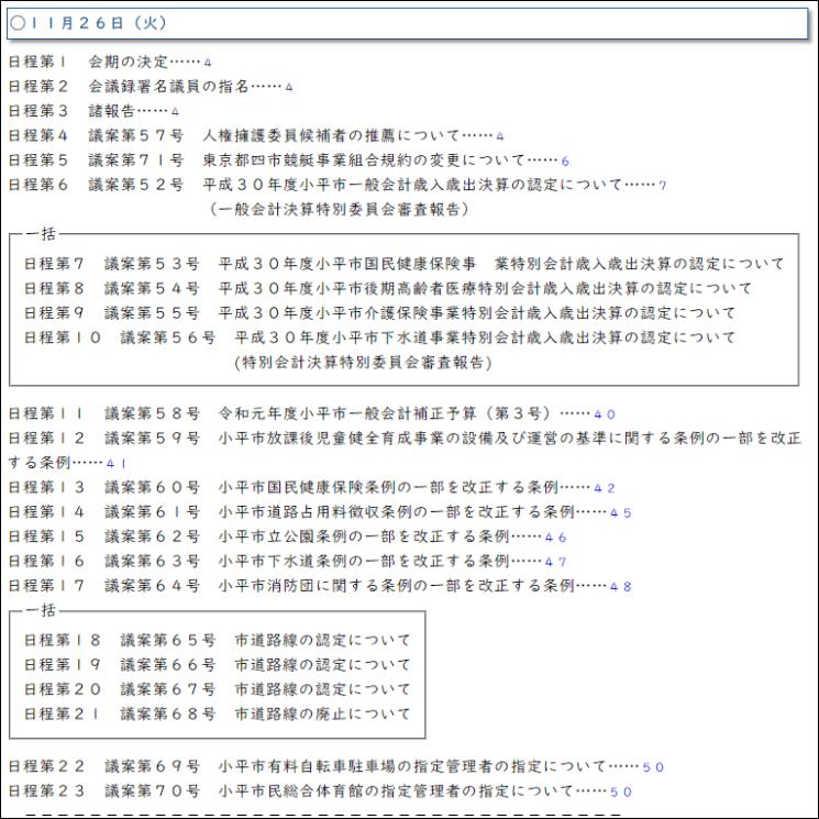会議録ダウンローダーでHTMLやPDFファイルとしてダウンロードした後の会議録