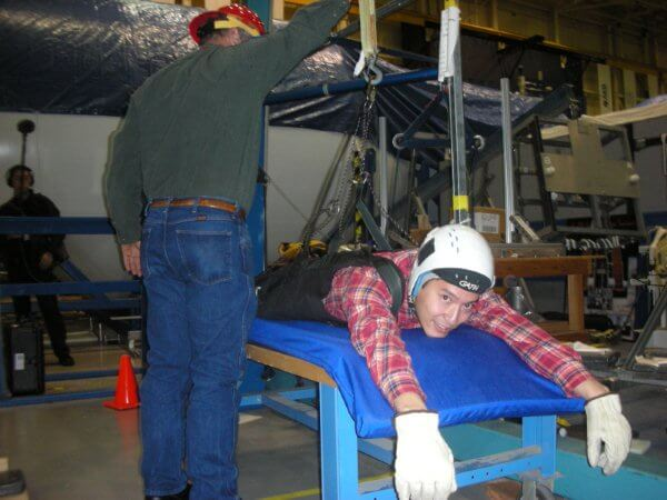 image of yohei yasutake training at NASA